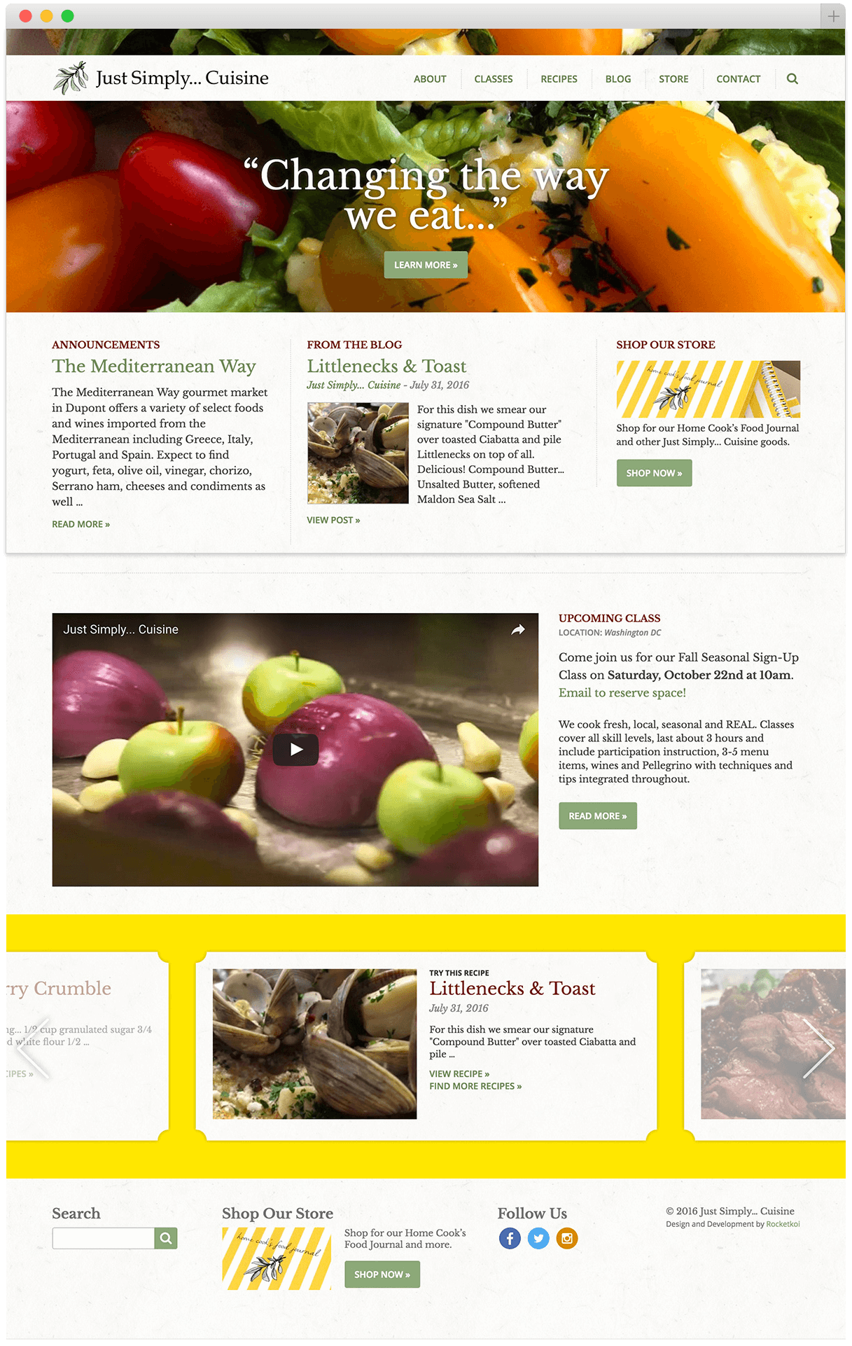 Just Simply... Cuisine homepage