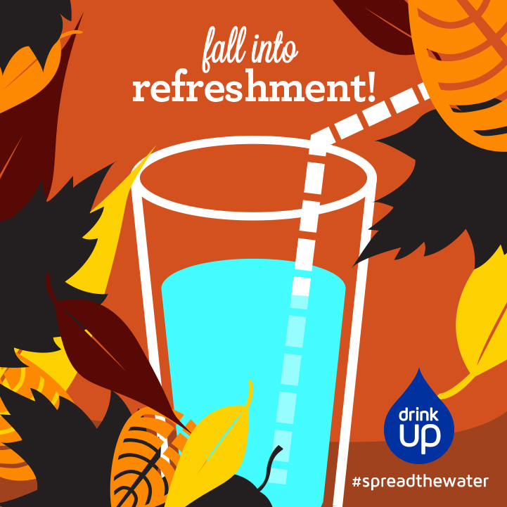 Fall Illustration for Drink Up graphic