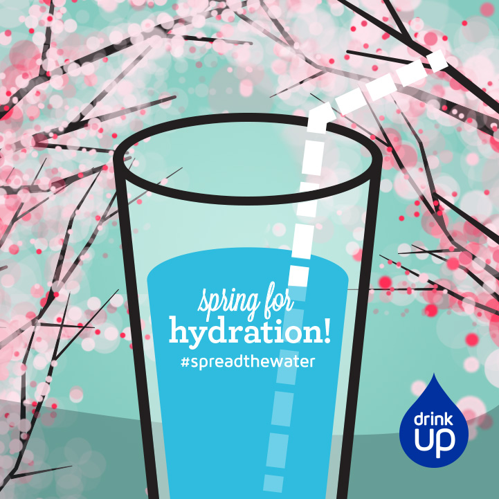 illustrated facebook graphic for Drink UP