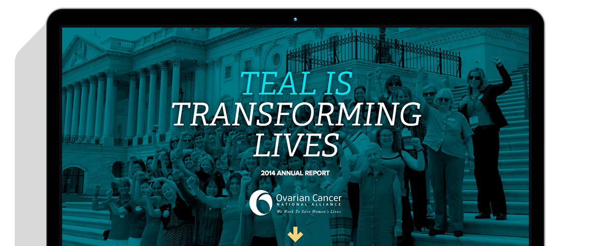 2014 OCNA Annual Report in a laptop