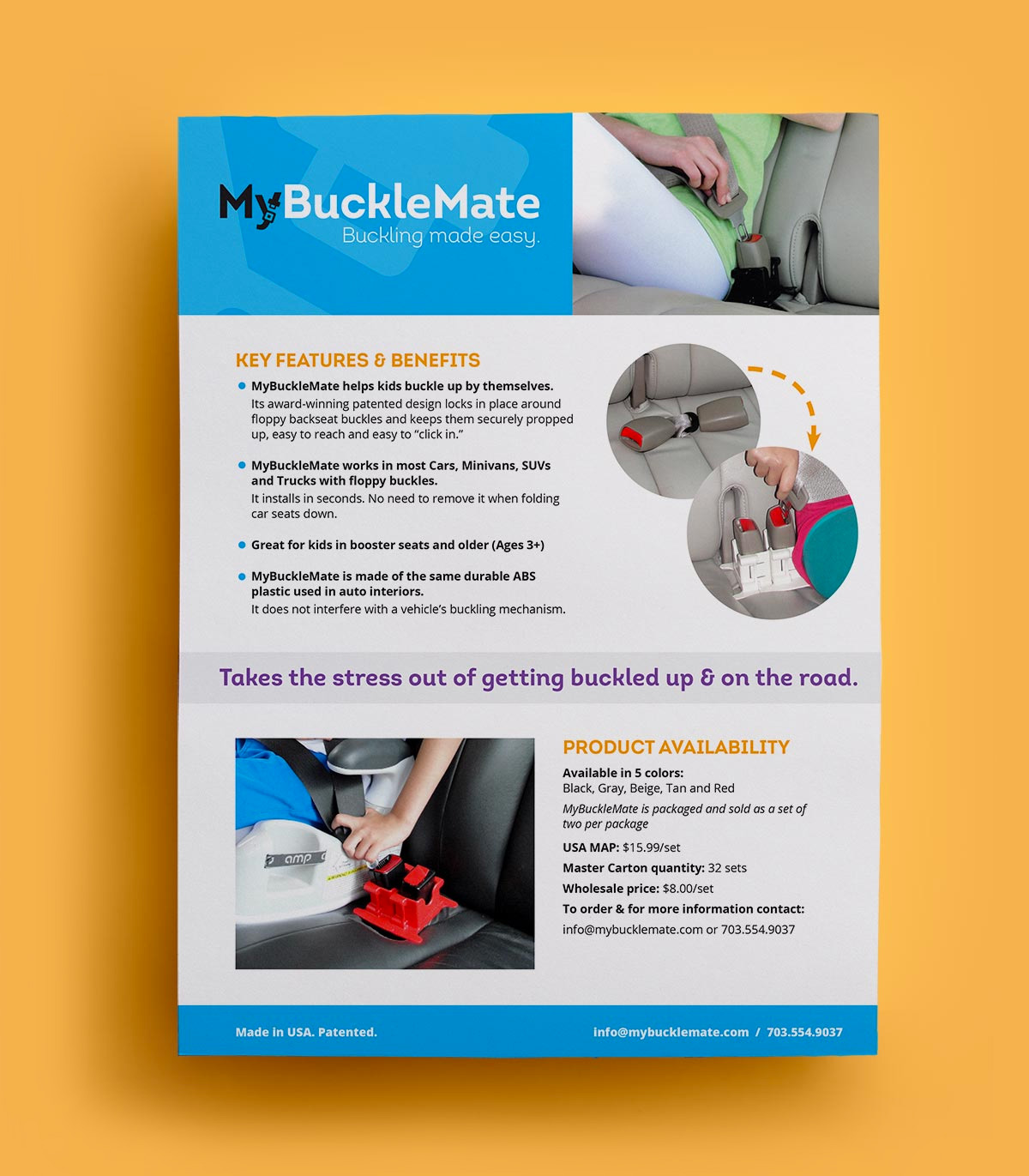 My Buckle Mate promotional flyer
