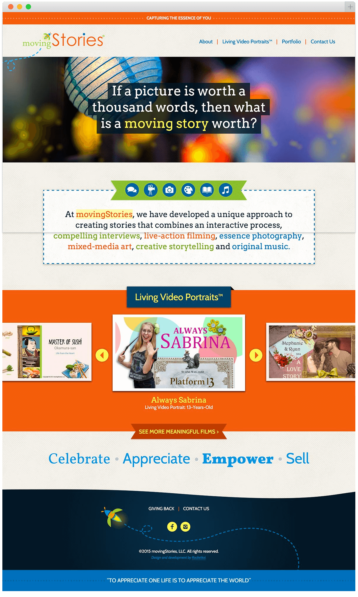 movingstories.biz homepage