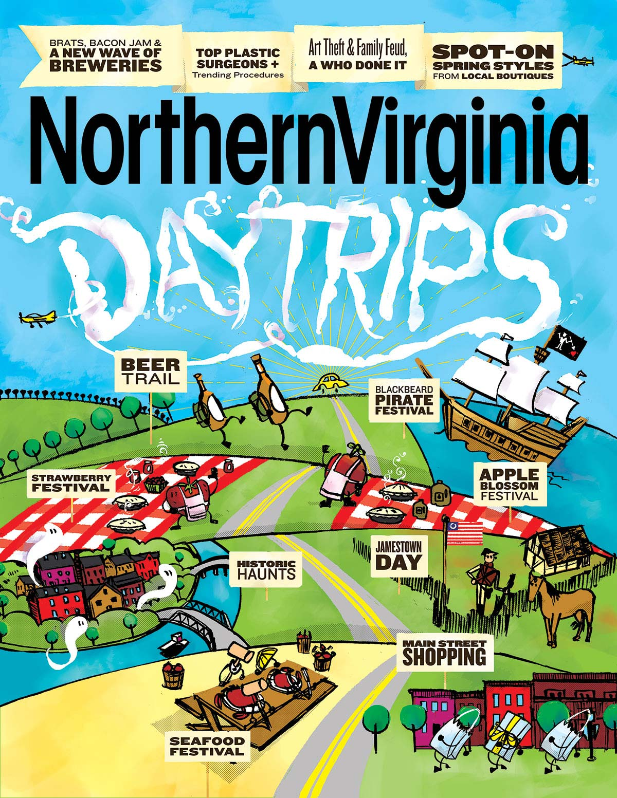 Full image of Northern Virginia Magazine Day Trips cover
