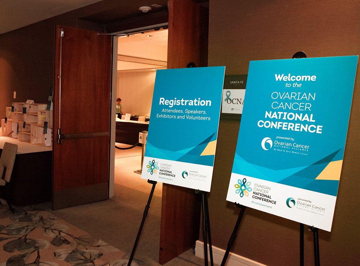 signs used at the Ovarian Cancer National Conference