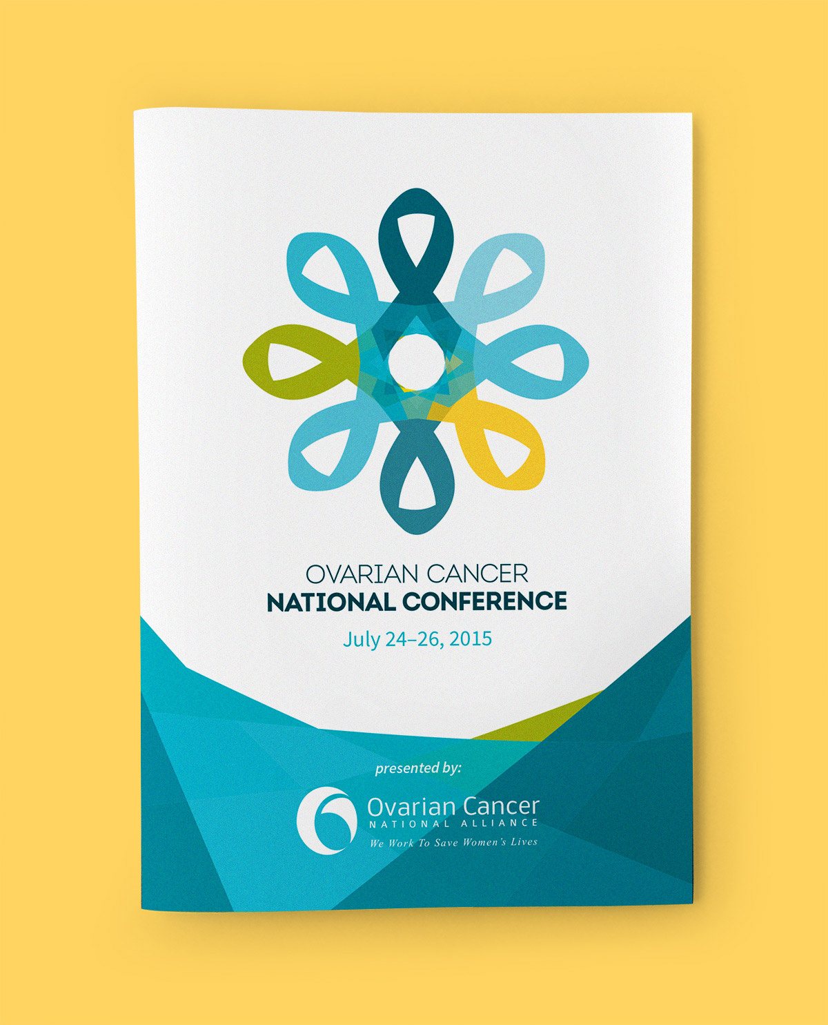 Detail of cover of program for Ovarian Cancer National Conference
