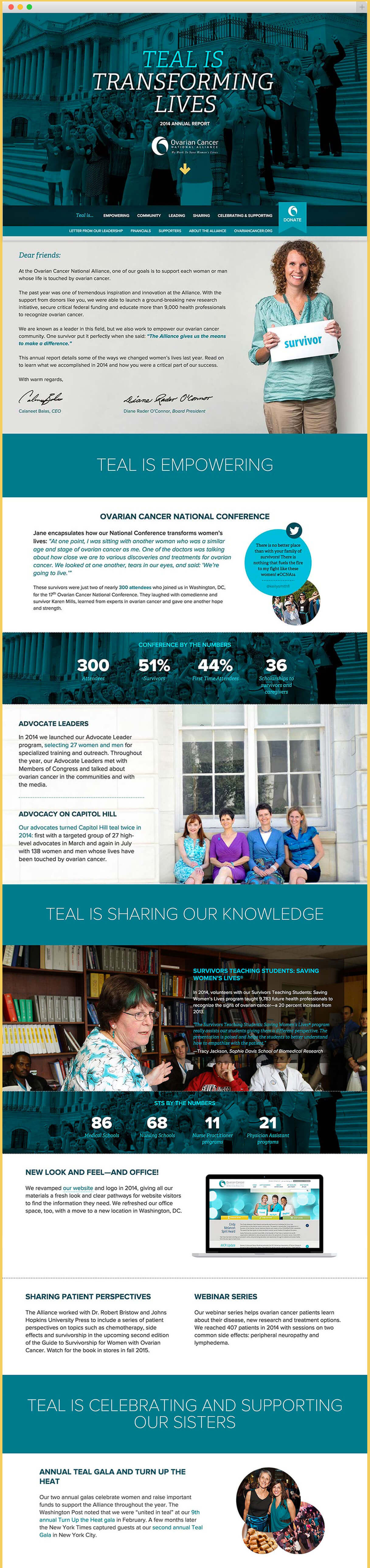 OCNA Annual Report website