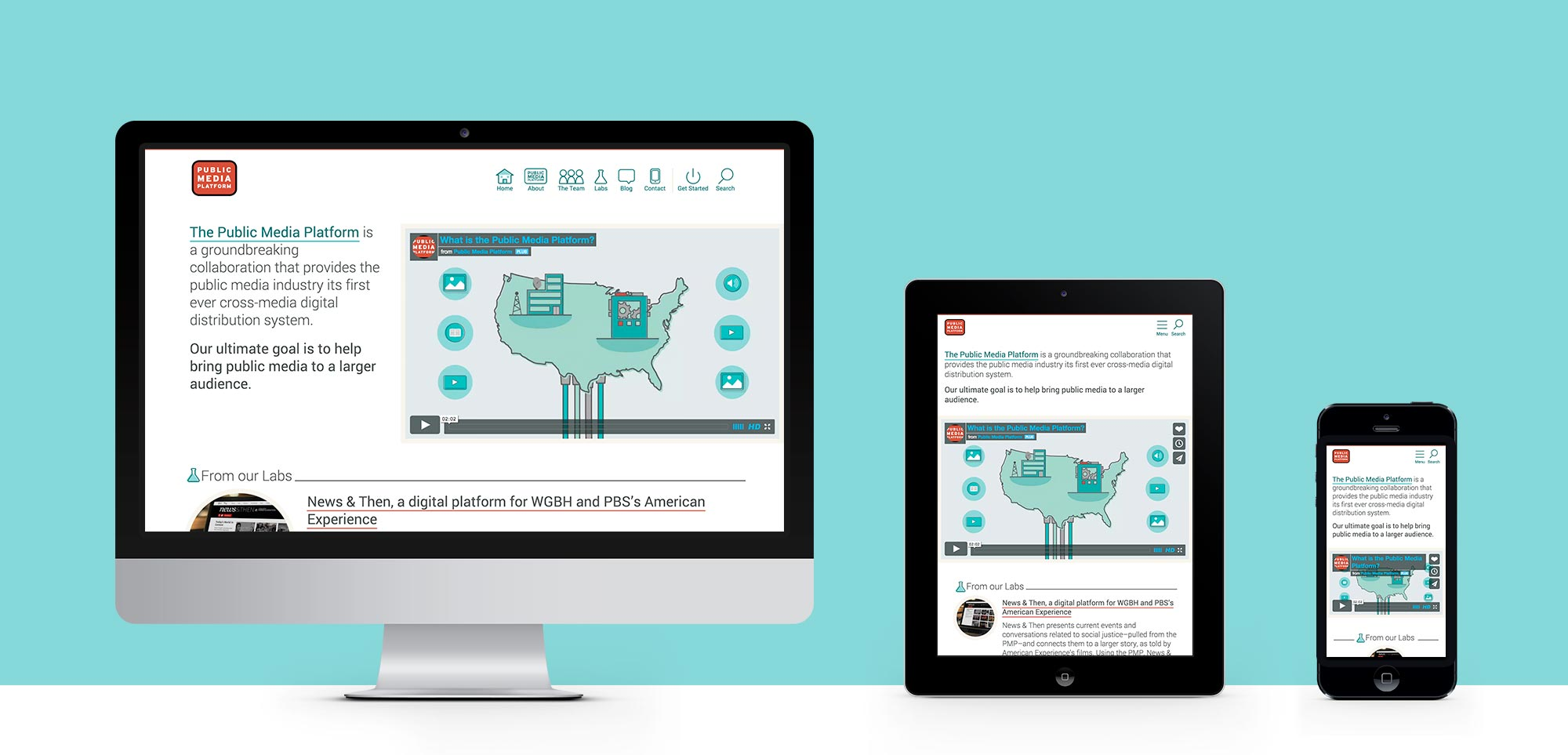 responsive web design examples for the Public Media Platform