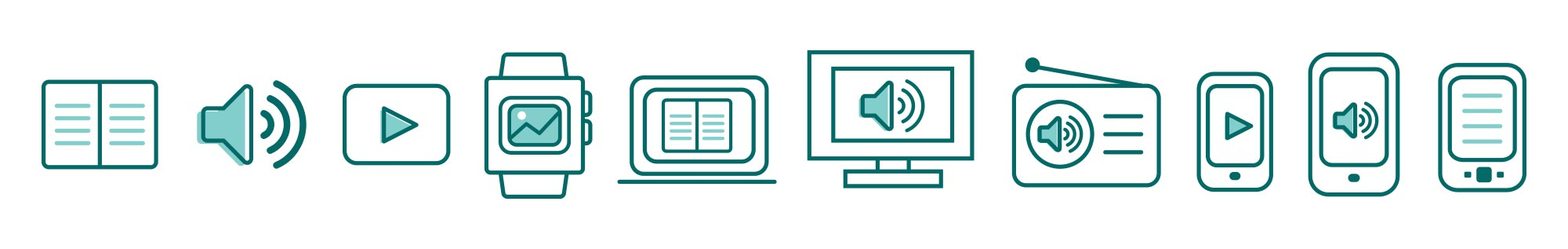 illustrated icons for the Public Media Platform