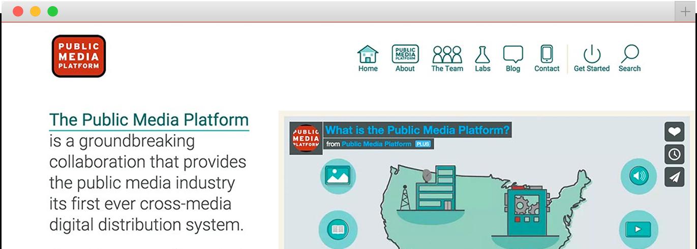 publicmediaplatform.org homepage