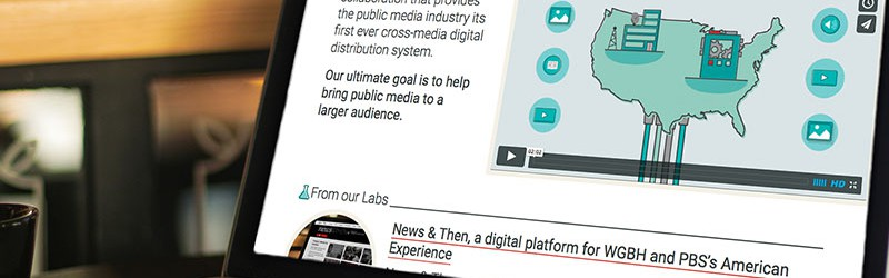 The Public Media Platform website in a laptop