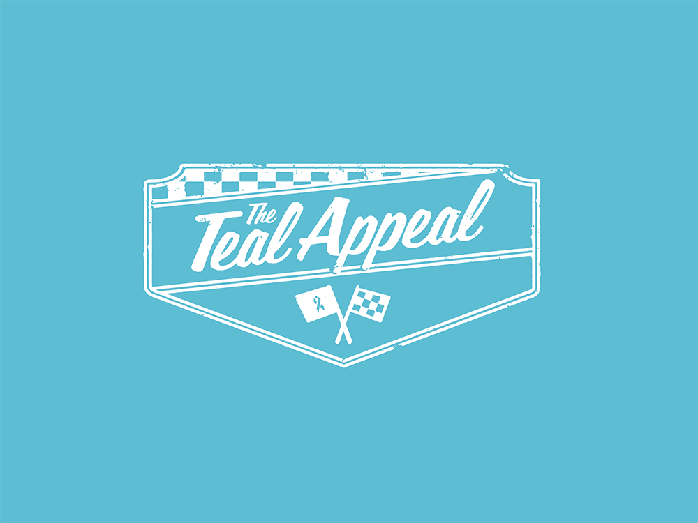 Teal Appeal logo on light teal