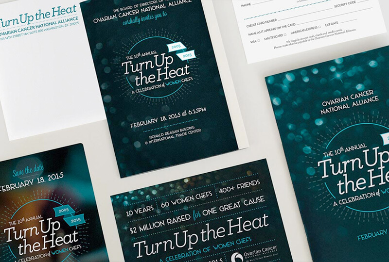 Turn Up the Heat print collateral