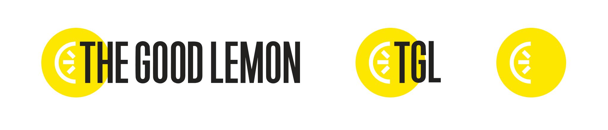 Three variations of The Good Lemon logo