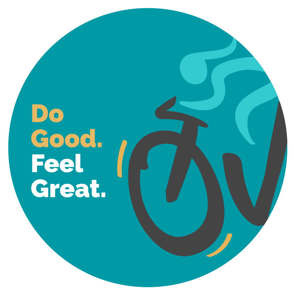 Dark Teal Ovarian Cycle Sticker that says Do Good. Feel Great.