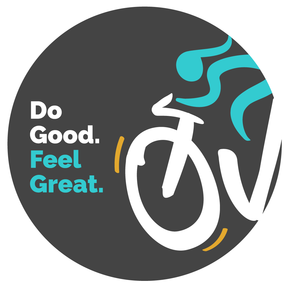 Grey Ovarian Cycle Sticker that says Do Good. Feel Great.