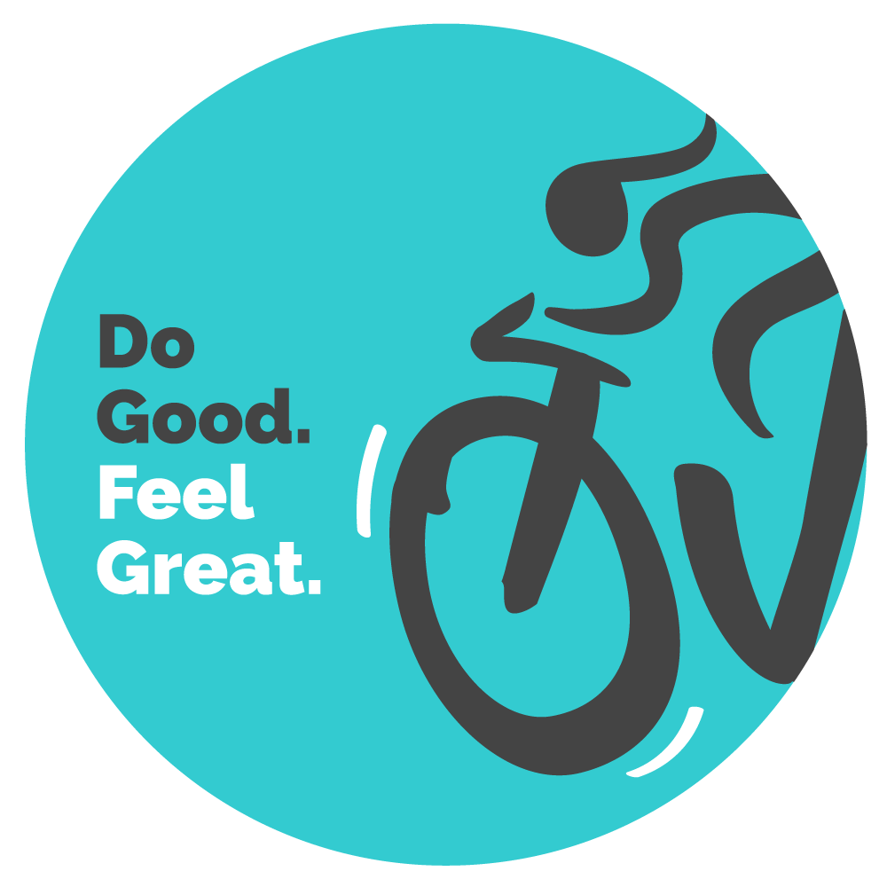 Teal Ovarian Cycle Sticker that says Do Good. Feel Great.