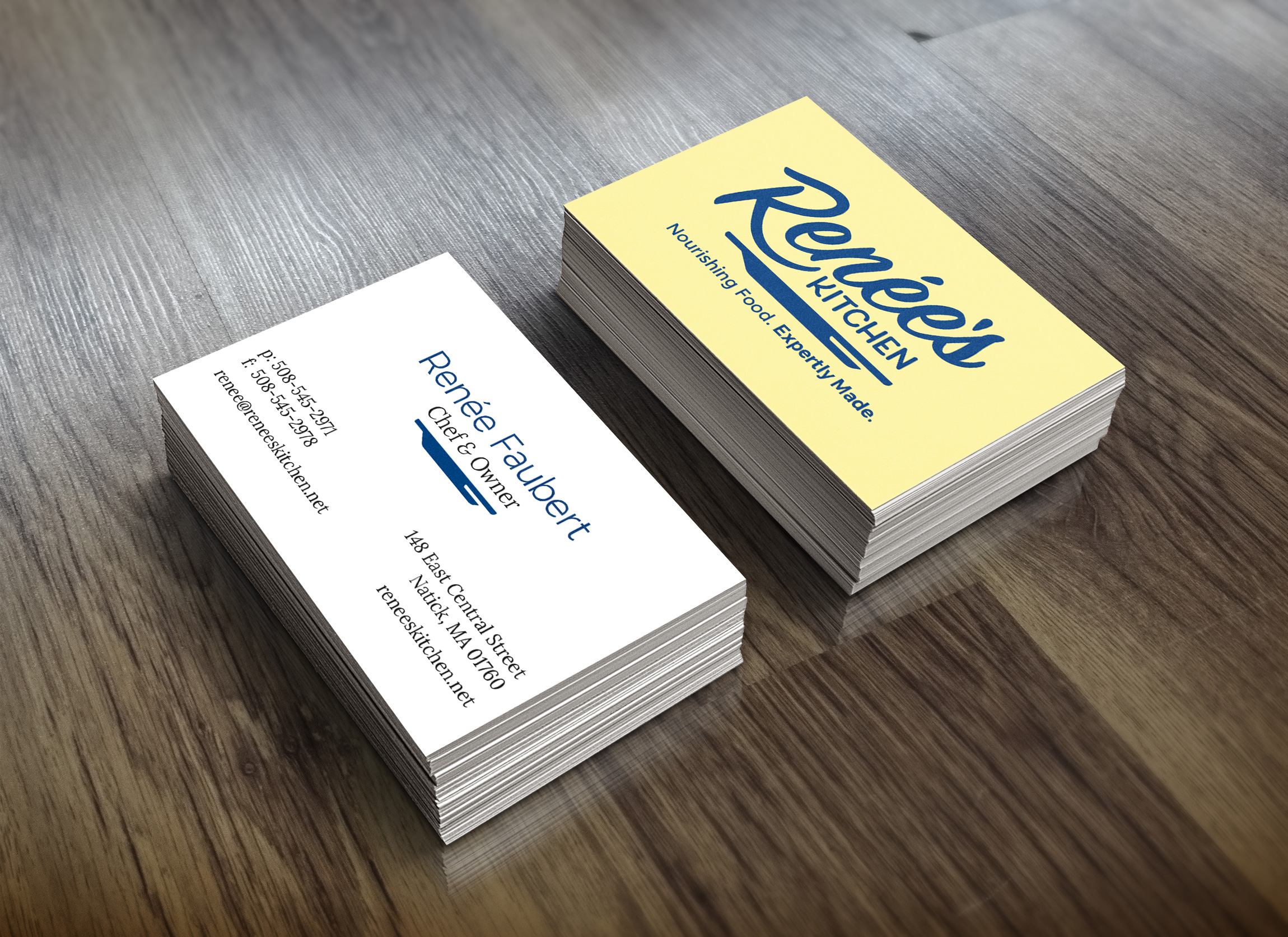 Renée's Kitchen business cards