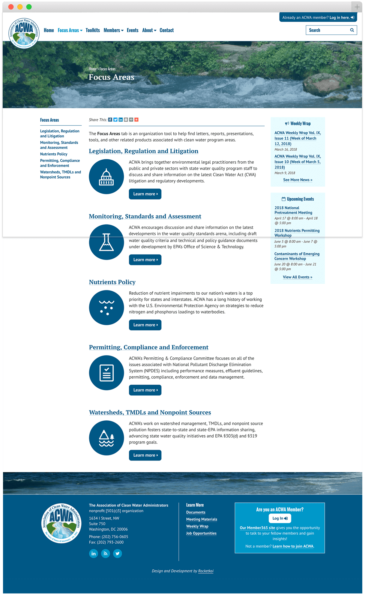 acwa-us.org focus areas page